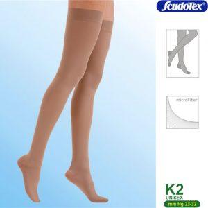 Κάλτσα ριζομηρίου με σιλικόνη CLASS II με μικροΐνες (μέσα δάκτυλα) 23-32mmHg Κωδ. 444